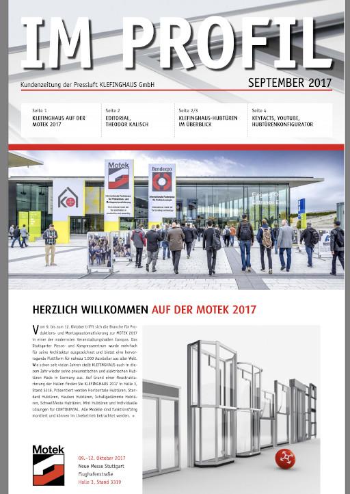 Die September-Ausgabe 2017 unserer Kundenzeitung