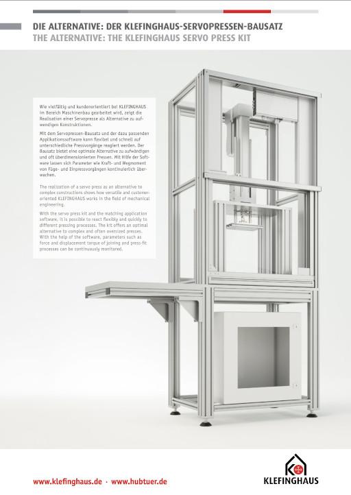 Flyer Klefinghaus Servopressen-Bausatz