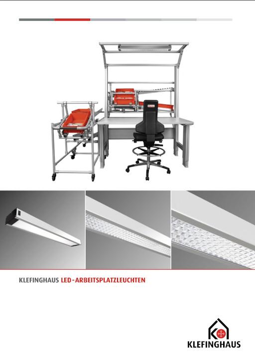 """Unsere Broschüre """"Klefinghaus LED-Arbeitsplatzleuchten"""""""
