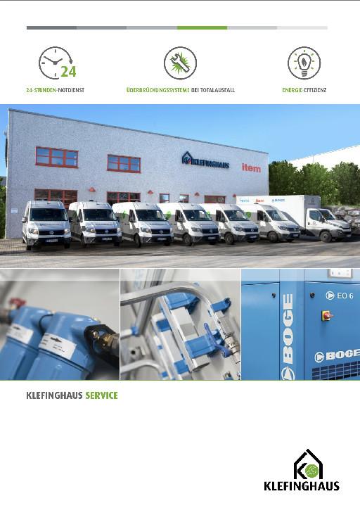 Unsere neue Servicebroschüre Klefinghaus